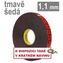 3M VHB™ 4611, tl. 1,1 mm; tmavošedá oboustranně lepicí páska
