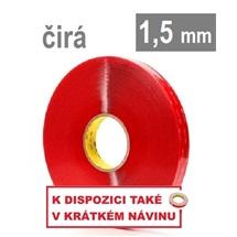 3M VHB™ 4915-F, tl. 1,5 mm; transparentní oboustranně velmi silně lepicí akrylová páska