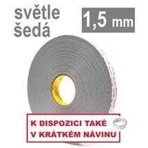 3M VHB™ 4956-P, tl, 1,5 mm; světle šedá oboustranně velmi silně lepicí akrylová páska