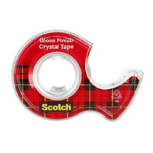 3M 600 Scotch Crystal Tape Čirá páska s aplikátorem, 19 mm x 7,5 m