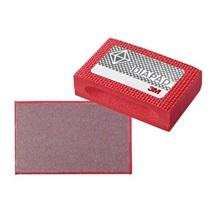 3M 6200J Diamantová houbička červená, N74 (P220),  90 mm x 55 mm