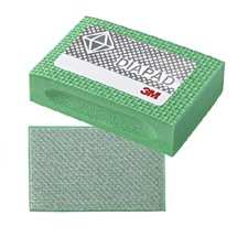 3M 6200J Diamantová houbička zelená, N250 (P60),  90 mm x 55 mm