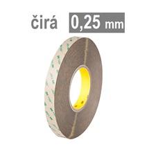 3M VHB™ 9473,  tl. 0,25 mm, tenká čirá oboustranně lepicí páska bez nosiče