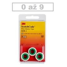3M SDR Páska pro označování kabelů a vodičů s číslicemi 0–9 (3 role v blistru)
