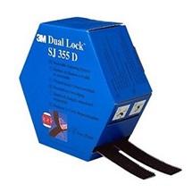 3M Dual-Lock™ Mini Pack SJ355D, černý, šíře 25 mm, 2 x 5 m v krabičce